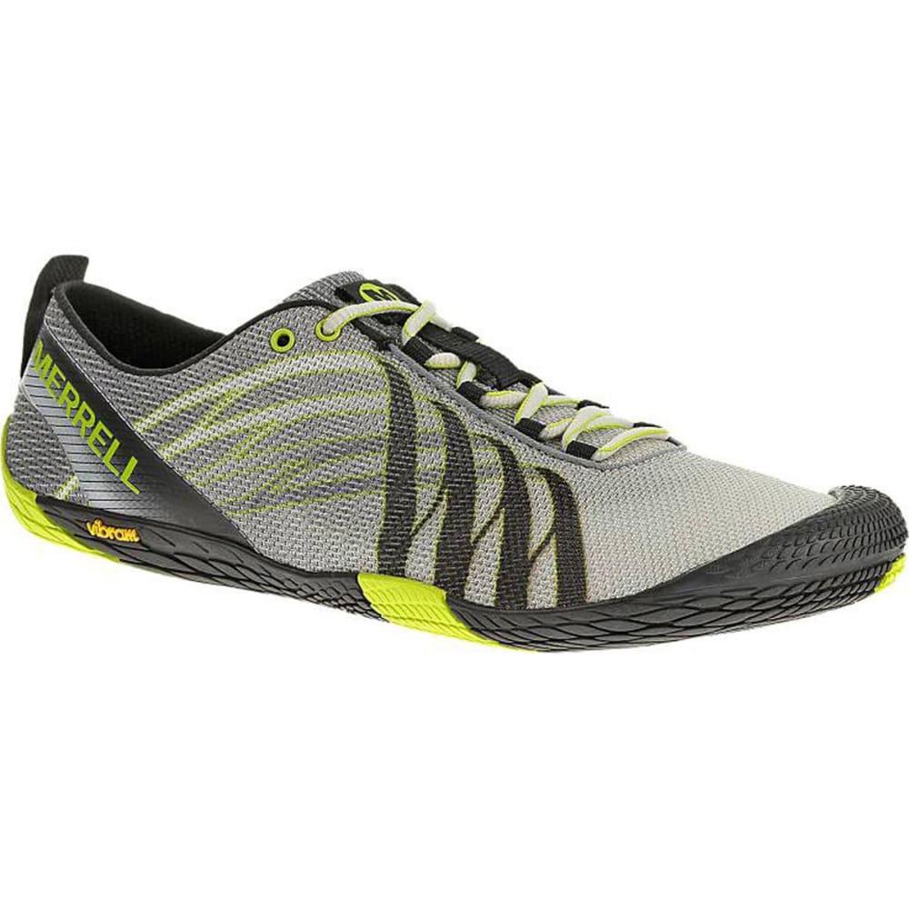 734b6fc551 MERRELL Men's Vapor Glove Barefoot Running Shoes, White/Lime
