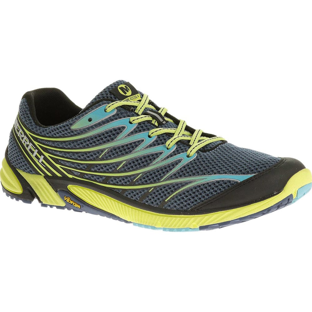 MERRELL Men's Bare Access 4 Running Shoes, Tahoe Blue/Sunny Yellow 7