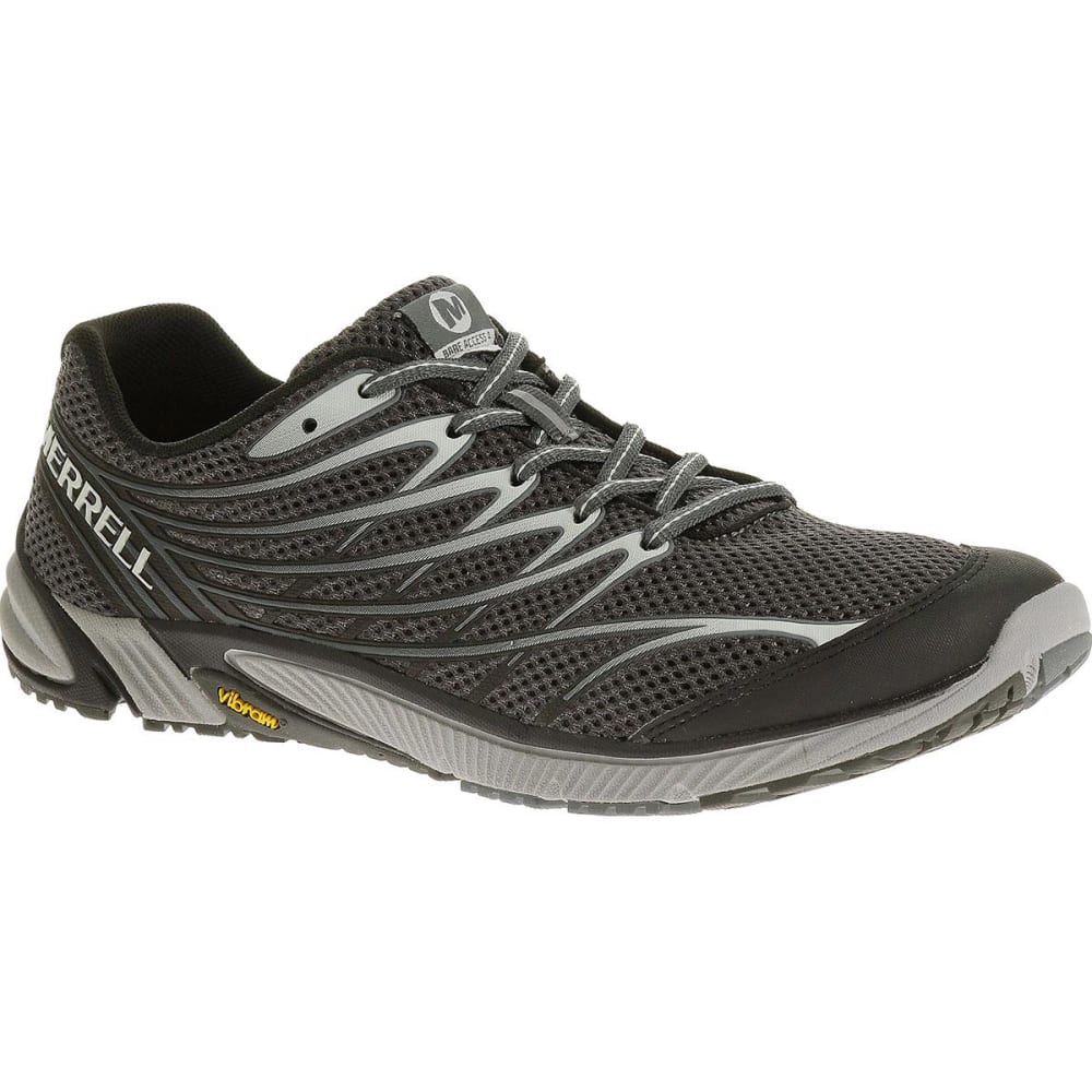 MERRELL Men's Bare Access 4 Running Shoes, Black/Dark Grey - BLACK/DARK GREY