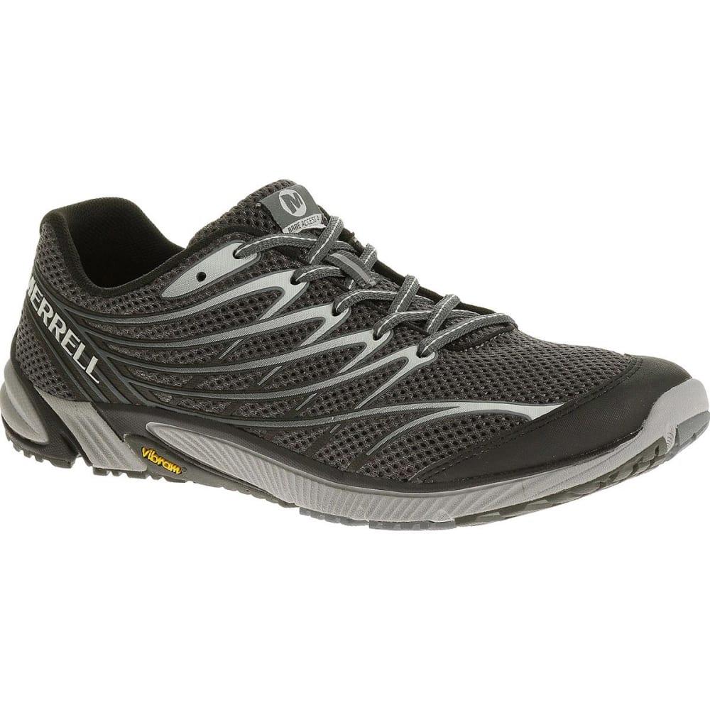 MERRELL Men's Bare Access 4 Running Shoes, Black/Dark Grey - BLACK/DARK GREY