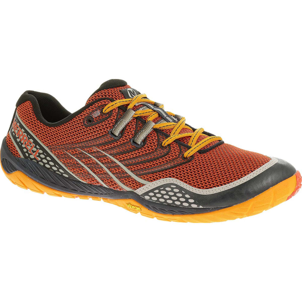 MERRELL Men's Trail Glove 3 Shoes, Spicy Orange/Navy - SPICY ORANGE/NAVY