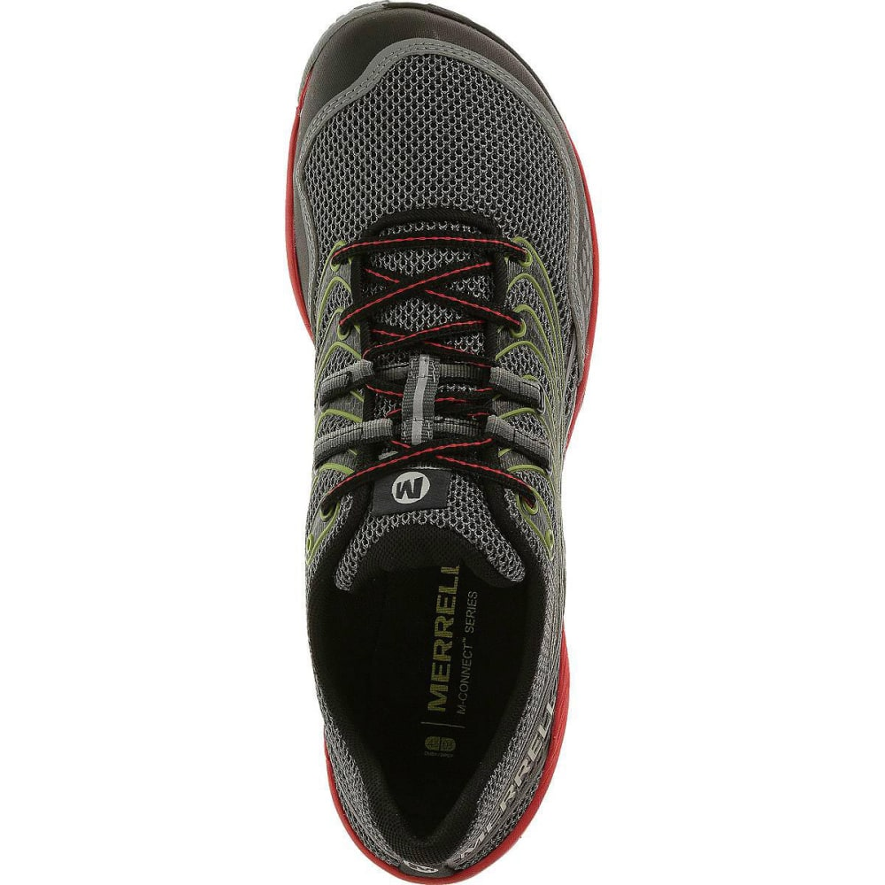 MERRELL Men's Trail Glove 3 Shoes, Grey/Red - GREY/RED