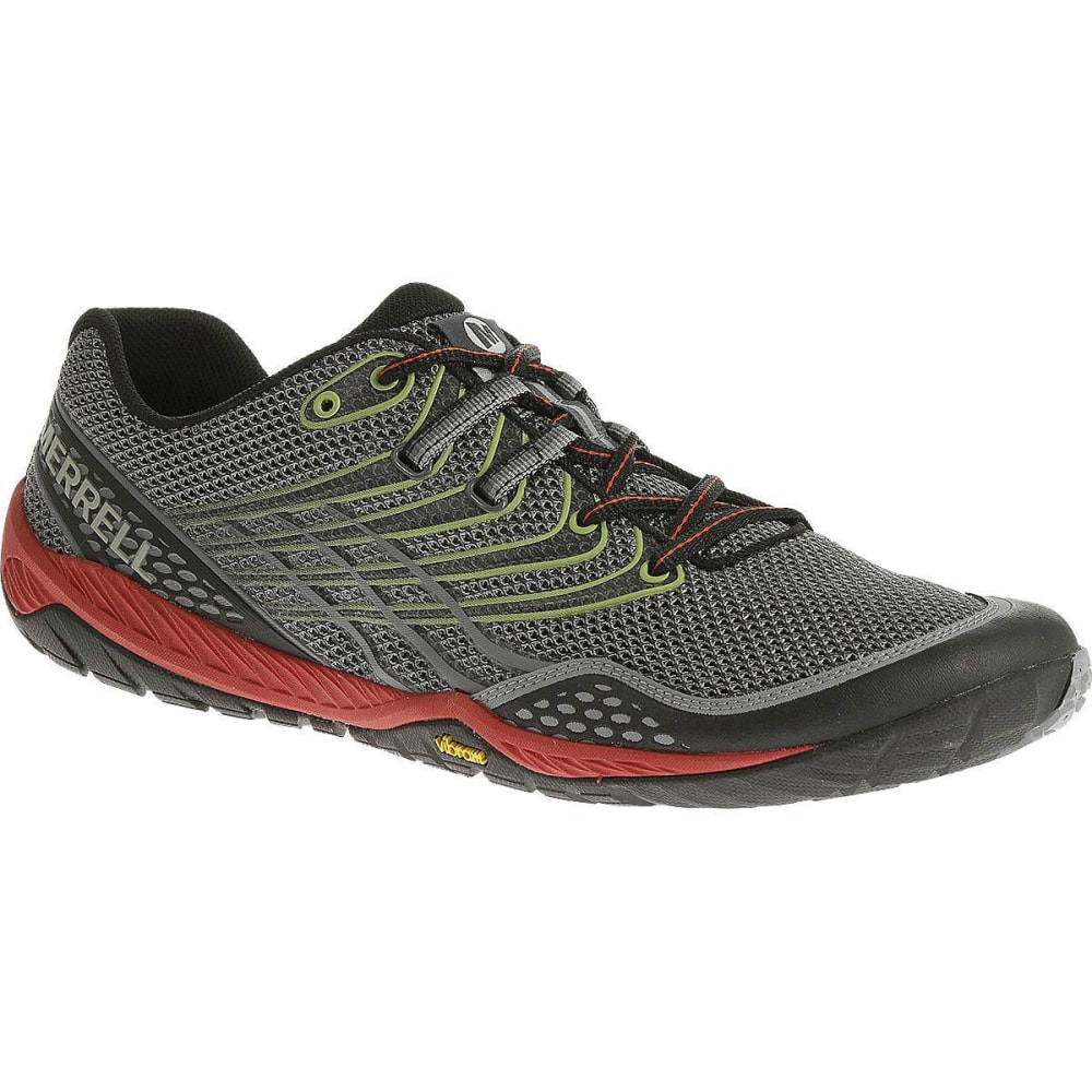 MERRELL Men's Trail Glove 3 Shoes, Grey/Red ...