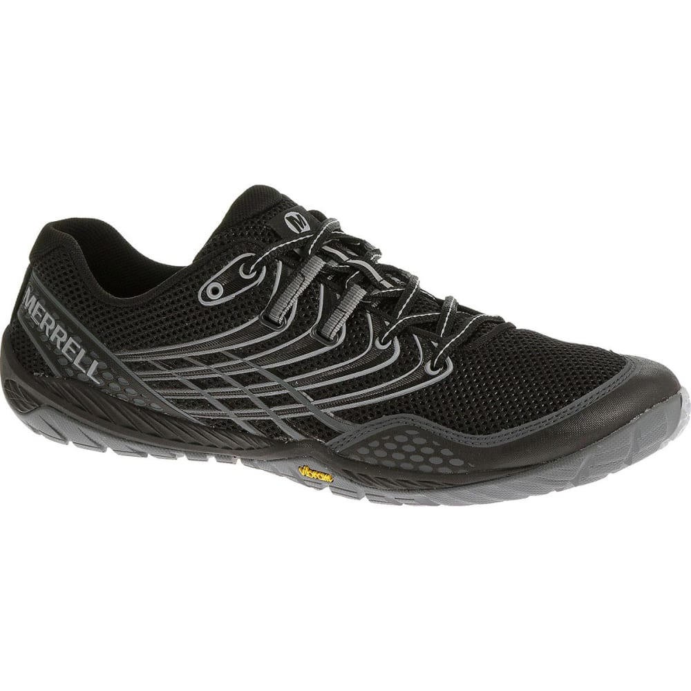 MERRELL Men's Trail Glove 3 Shoes, Black/Light Grey - BLACK/LIGHT GREY
