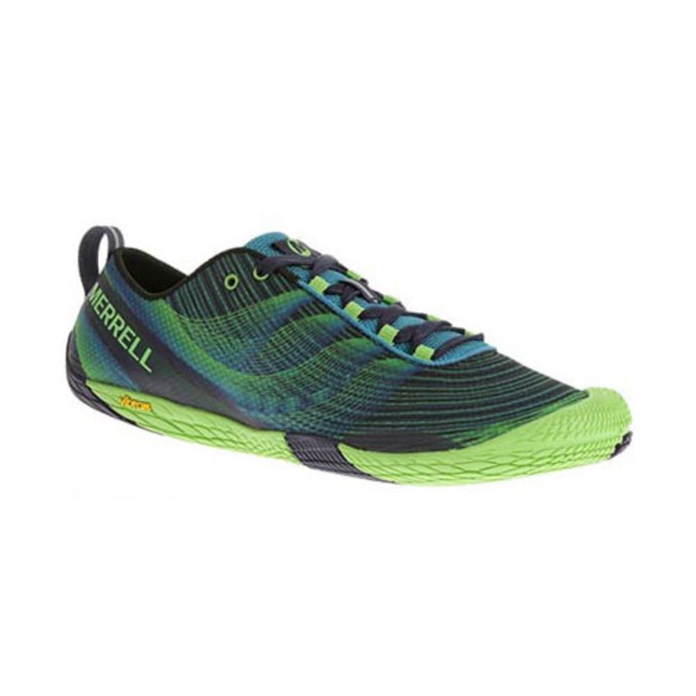 MERRELL Men's Vapor Glove 2 Trail Running Shoes, Racer Blue/Bright Green - RACER BLUE/BRIGHT GR