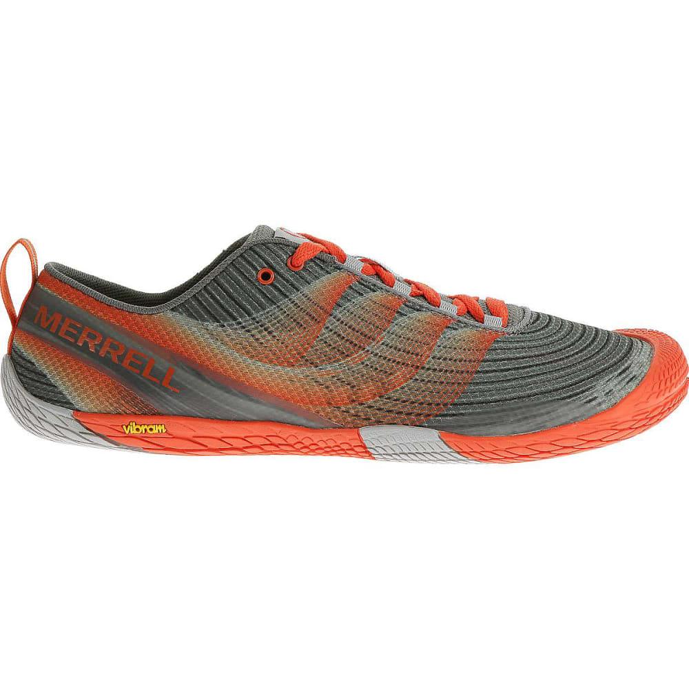 MERRELL Men's Vapor Glove 2 Running Shoes, Grey/Spicy Orange - GREY/SPICY ORANGE