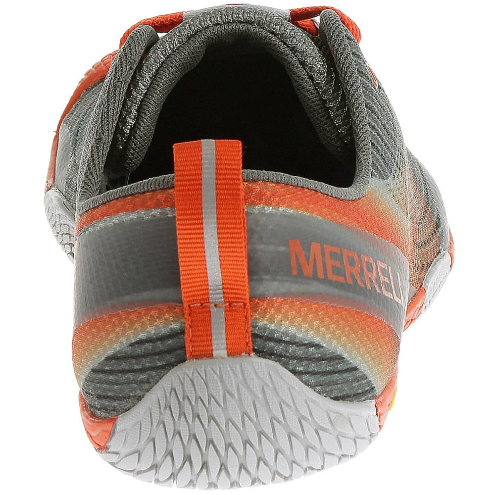 MERRELL Men's Vapor Glove 2 Running Shoes, Grey/Spicy Orange - GREY/SPICY ORANGE