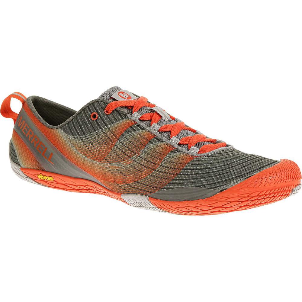 MERRELL Men's Vapor Glove 2 Running Shoes, Grey/Spicy Orange