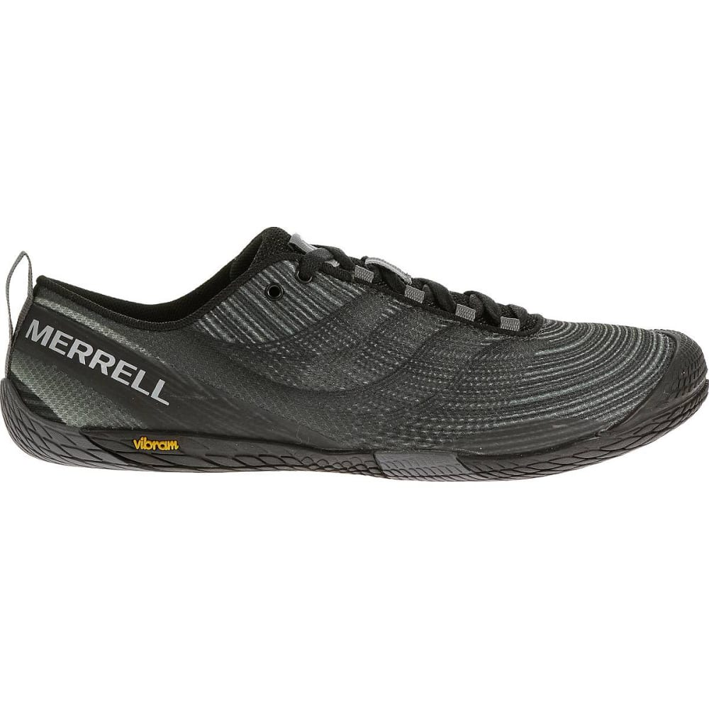 MERRELL Men's Vapor Glove 2 Trail Running Shoes, Black/Castle Rock - BLACK/CASTLE ROCK