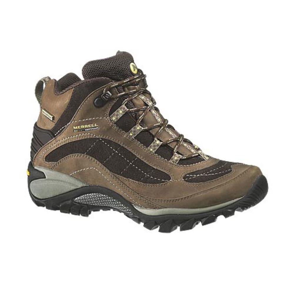 MERRELL Women's Siren WP Mid Leather Hiking Boots, Brown - BROWN