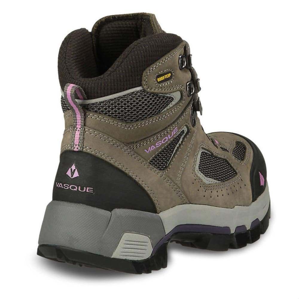 VASQUE Women's Breeze 2.0 GTX Hiking Boots, Gargoyle/Violet, Wide - GARGOYLE