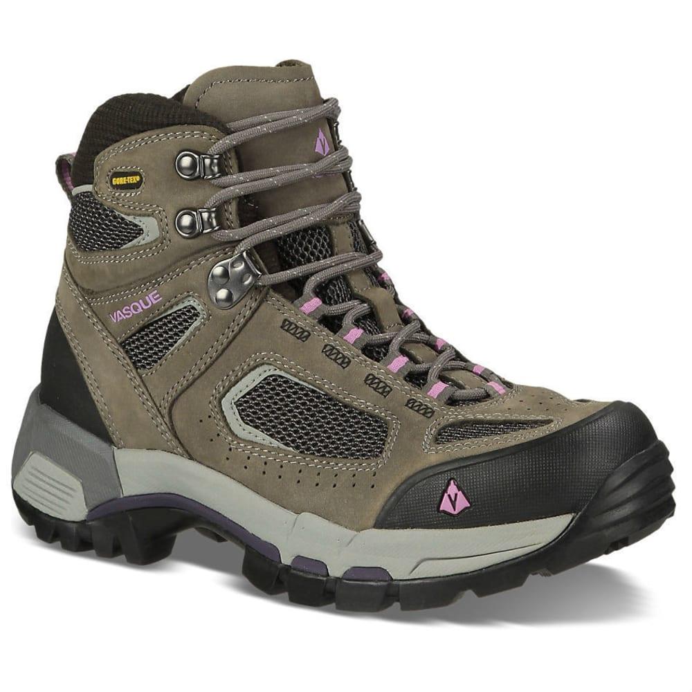 VASQUE Women's Breeze 2.0 GTX Hiking Boots, Gargoyle/Violet, Wide - GARGOYLE
