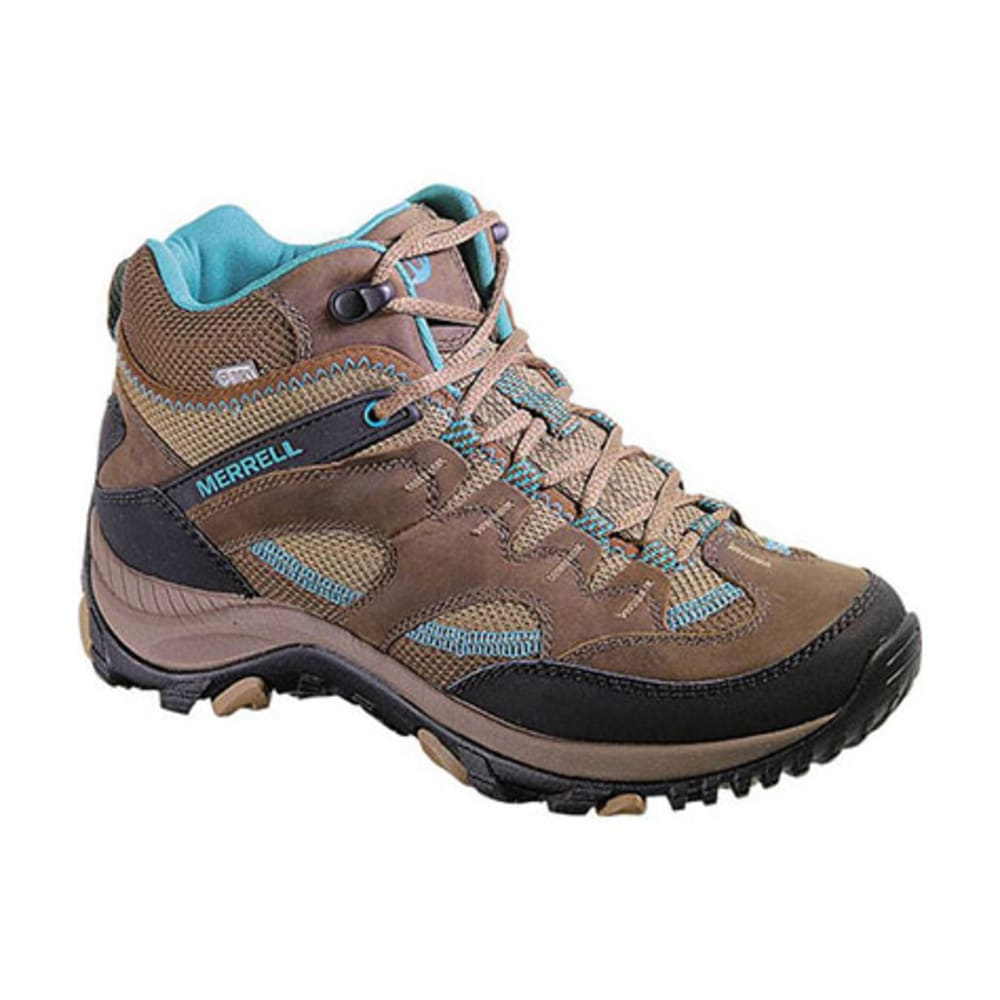MERRELL Women's Salida Mid Waterproof Hiking Boots, Dark Earth - DARK EARTH