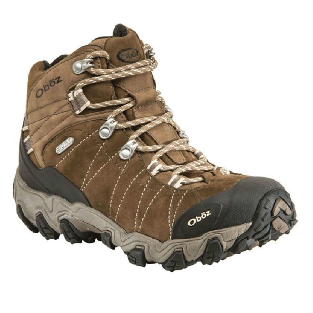 OBOZ Women's Bridger BDry Hiking Boots, Walnut - WALNUT