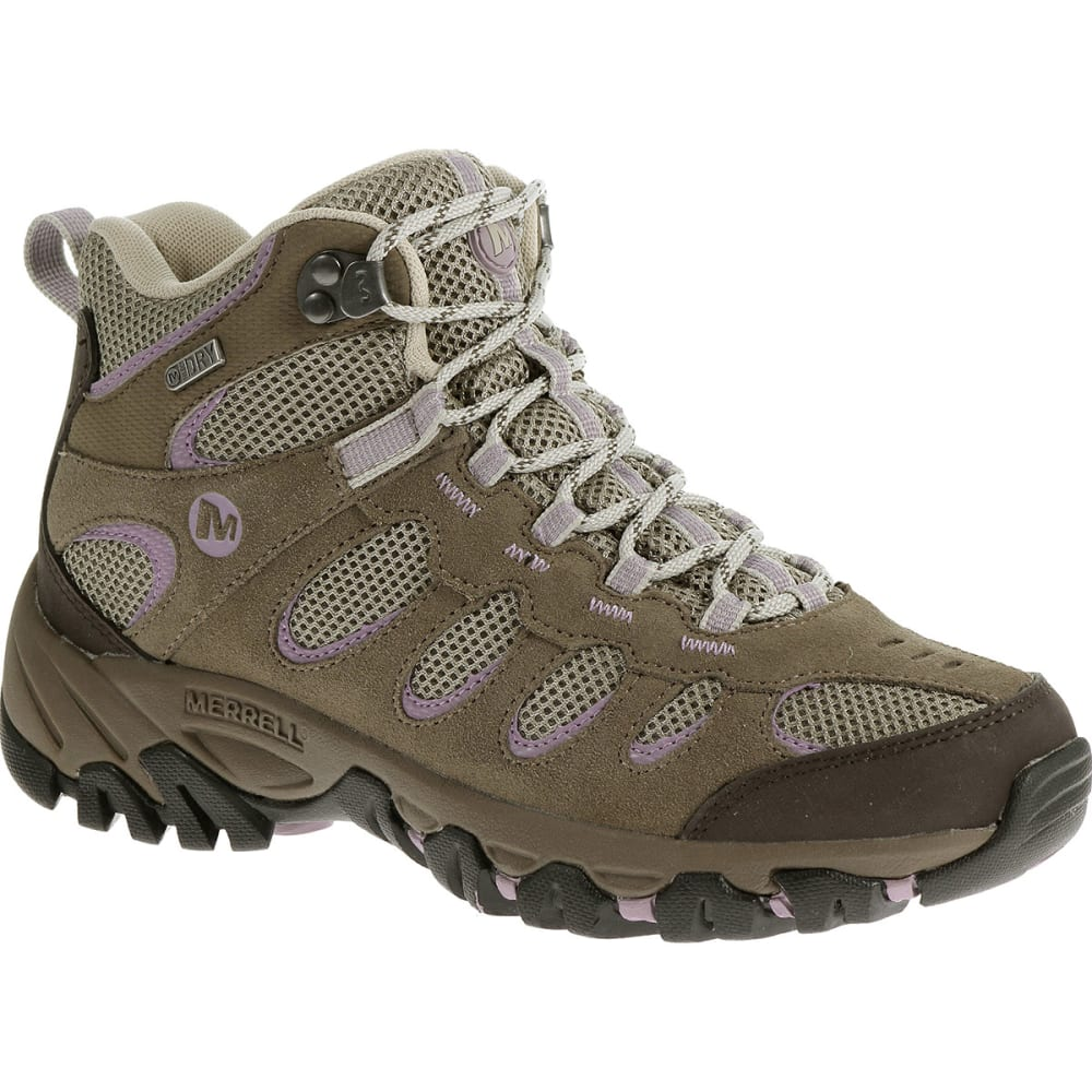 MERRELL Women's Ridgepass Mid WP Hiking Boots - BRINDLE