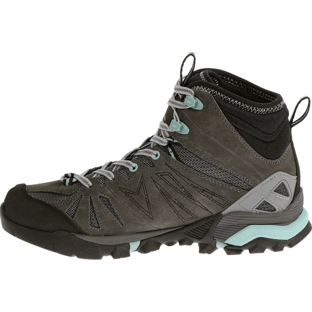 MERRELL Women's Capra Mid Waterproof Hiking Boots, Granite - GRANITE