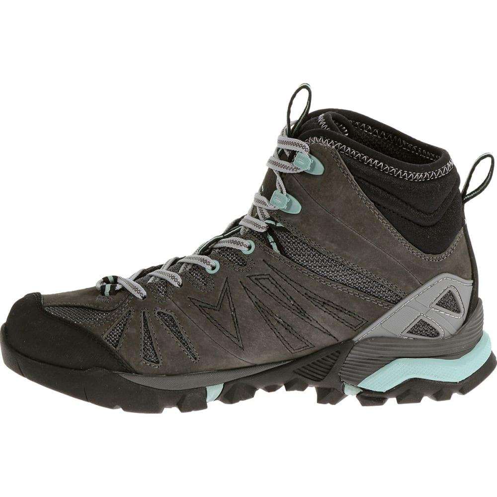 MERRELL Women's Capra Mid Waterproof Hiking Boots, Granite - GRANITE