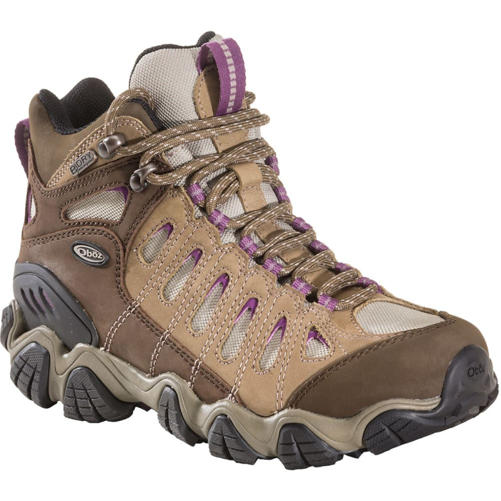 OBOZ Women's Sawtooth Mid BDry Hiking Boots - VIOLET