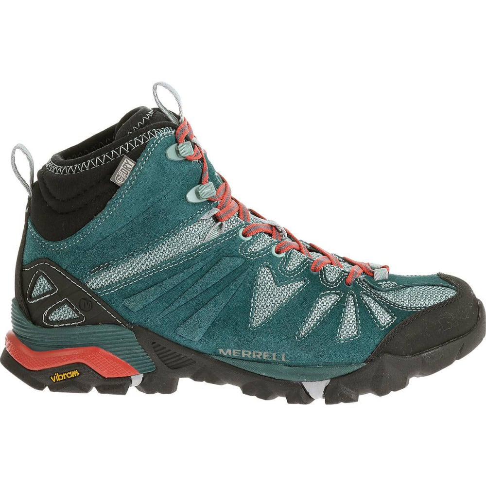 ... MERRELL Women's Capra Mid Waterproof Hiking Boots, Dragonfly -  DRAGONFLY ...
