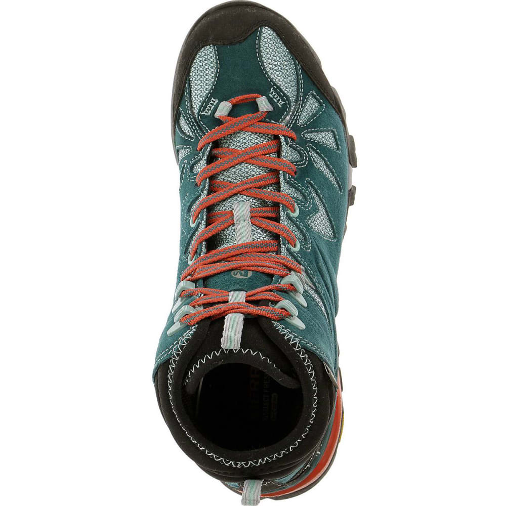 MERRELL Women's Capra Mid Waterproof Hiking Boots, Dragonfly - DRAGONFLY
