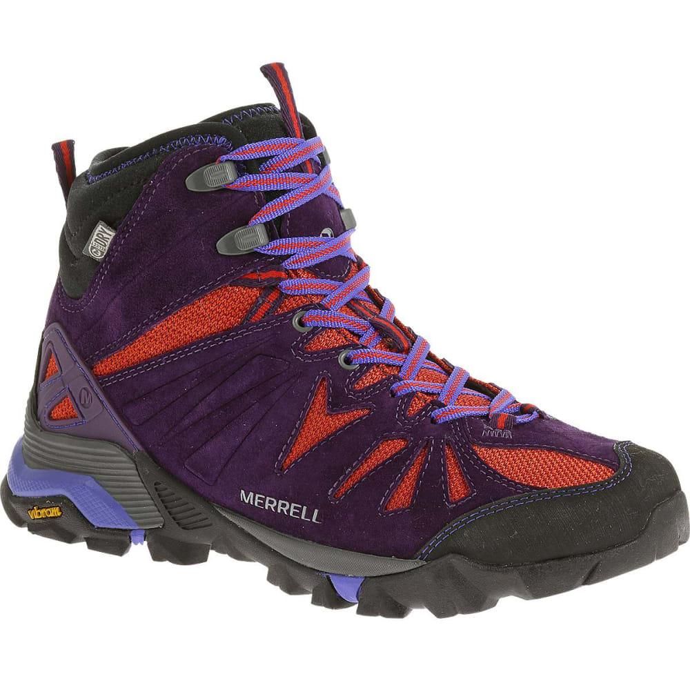 f74b71d408c8a MERRELL Women's Capra Mid Waterproof Hiking Boots, Wild Plum