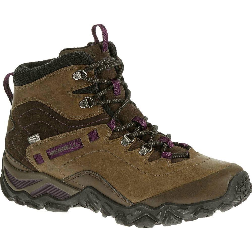 MERRELL Women's Chameleon Shift Traveler Mid Waterproof Hiking Boots, Olive - OLIVE