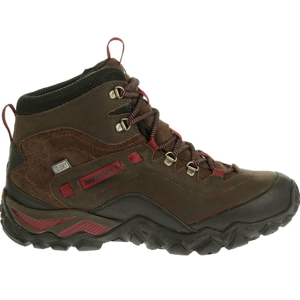 88c4caf99e60a7 MERRELL Women's Chameleon Shift Traveler Mid Waterproof Hiking Boots,  Cafe -
