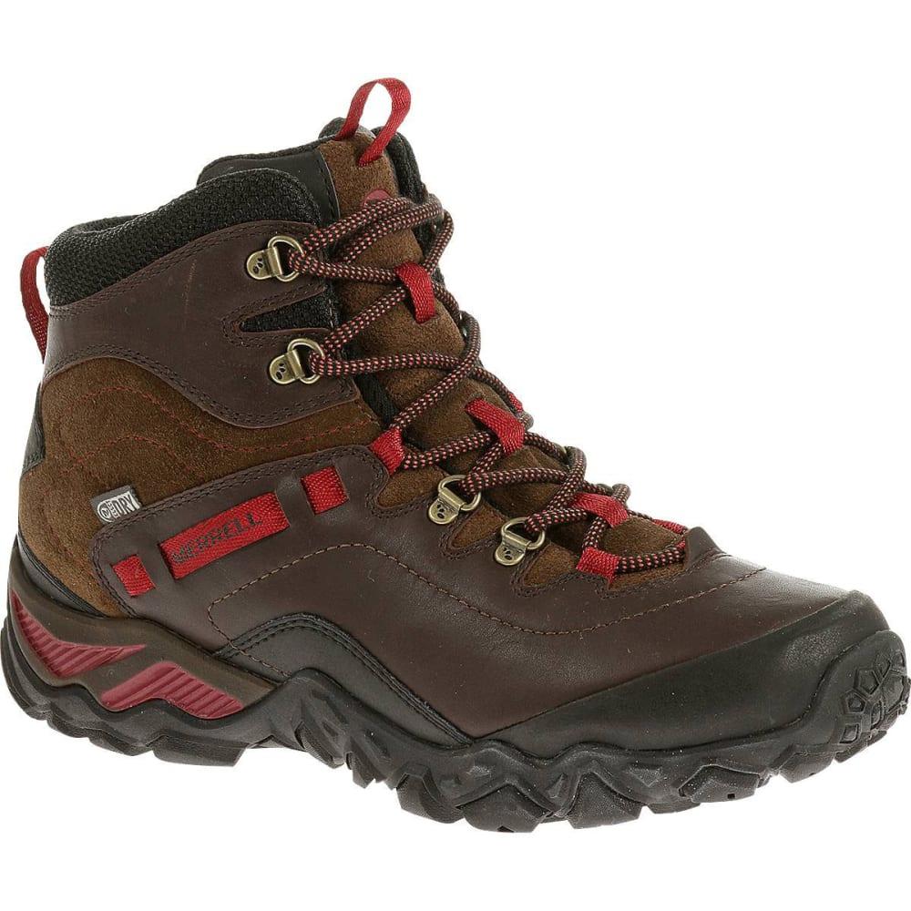 MERRELL Women's Chameleon Shift Traveler Mid Waterproof Hiking Boots,  Cafe - CAFE