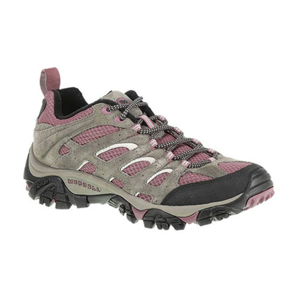 MERRELL Women's Moab Ventilator Hiking Shoes, Boulder/Blush - BOULDER