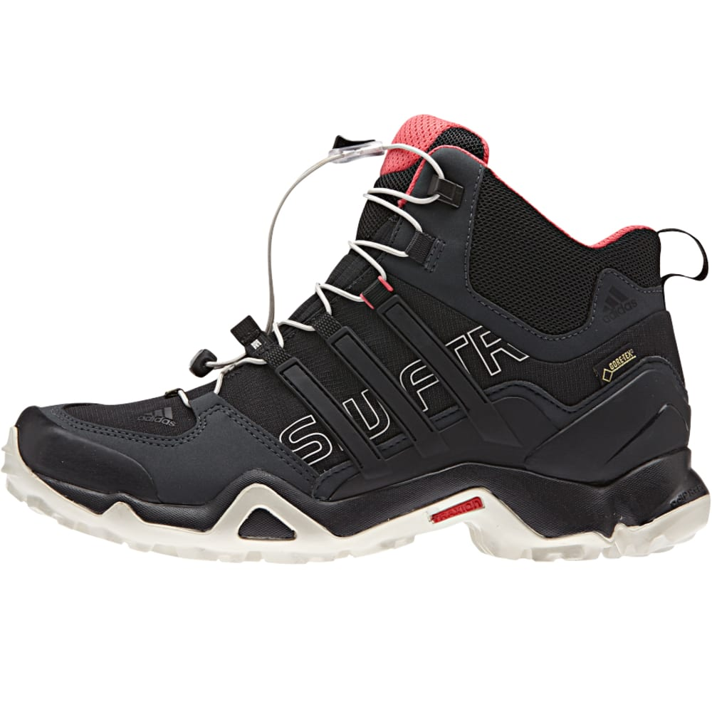 ADIDAS Women's Terrex Swift Mid GTX Hiking Boots - DKGRY/BLACK/SUPBLUSH