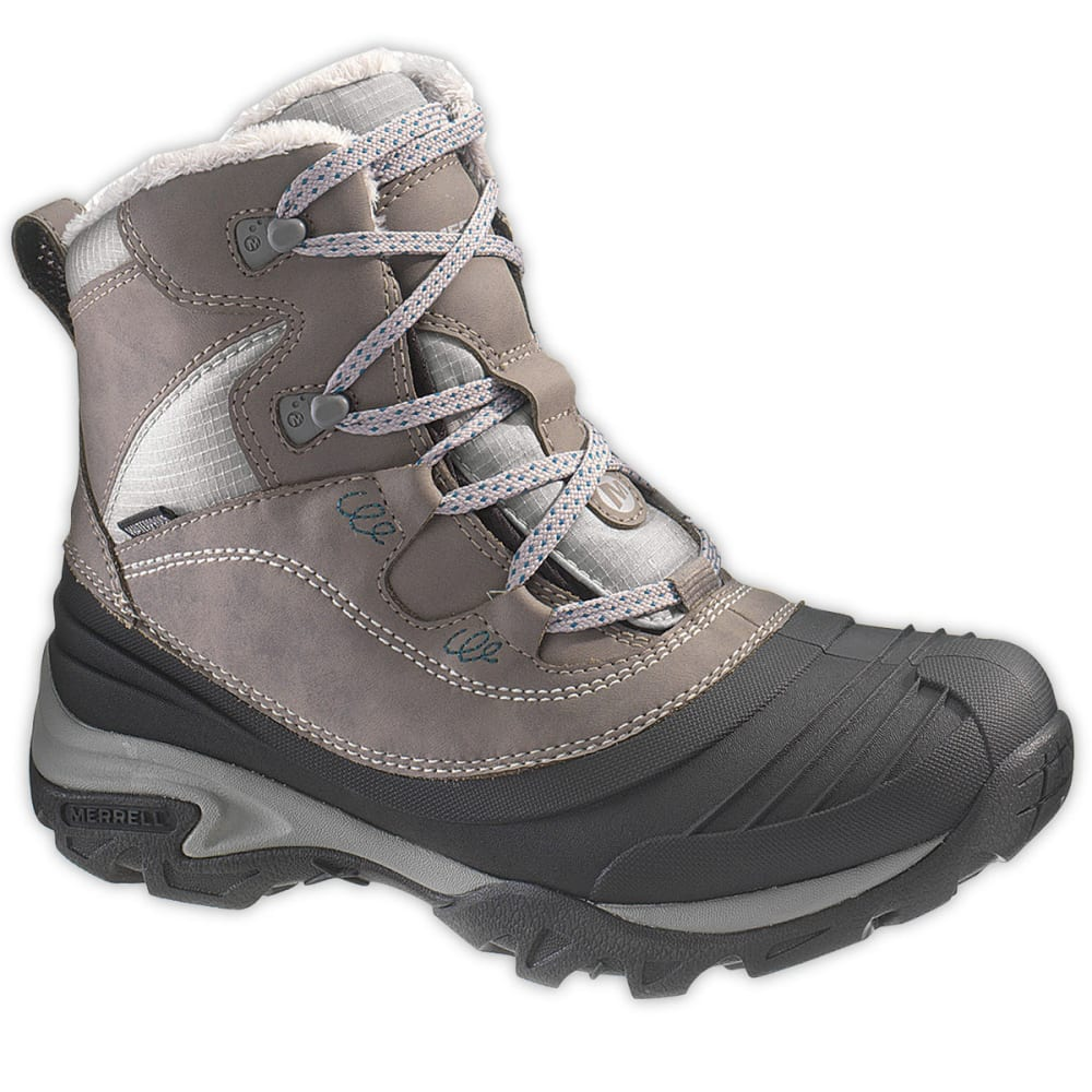 MERRELL Women's Snowbound Mid WP Winter Boots, Charcoal - CHARCOAL