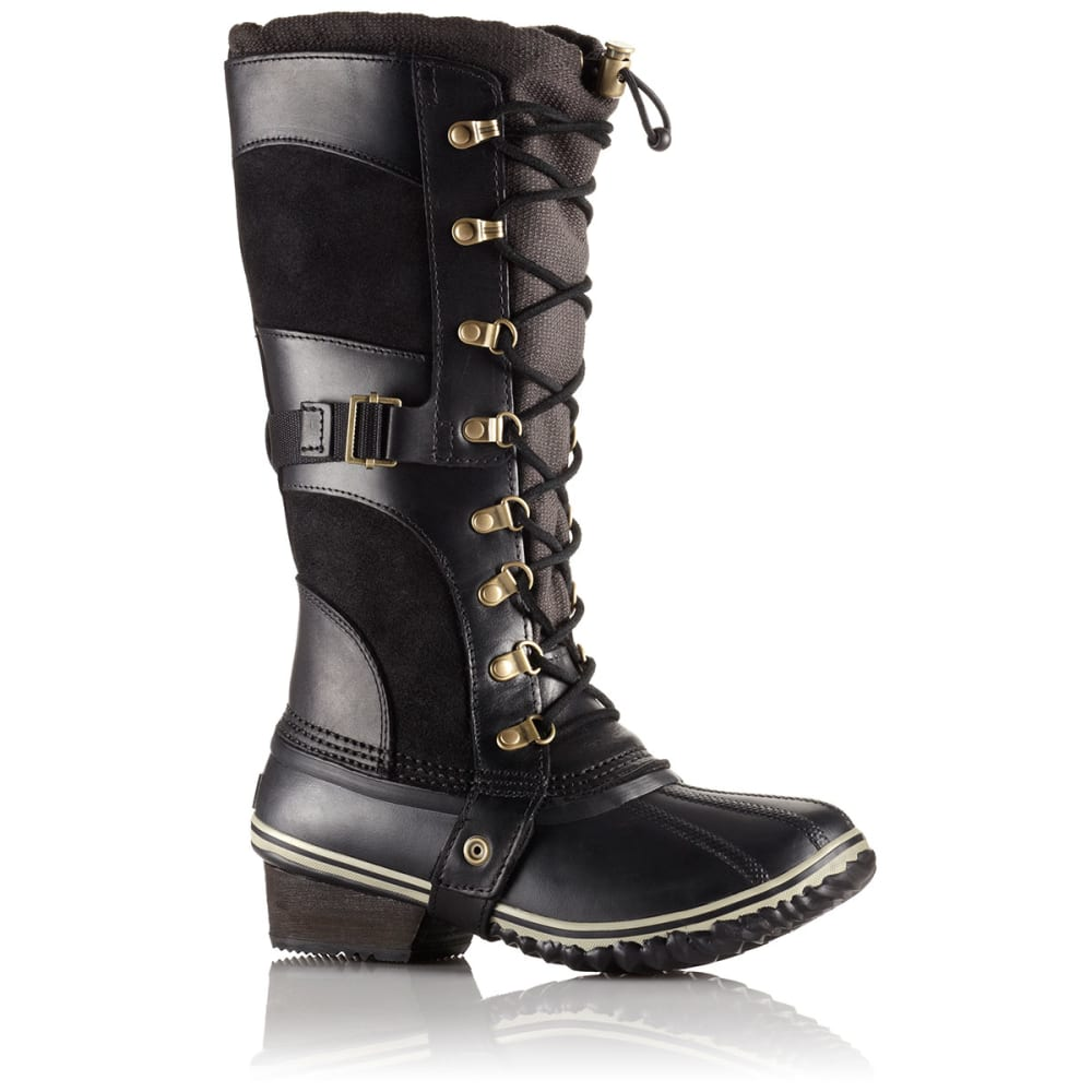 SOREL Women's Conquest Carly Winter Boots, Black - BLACK