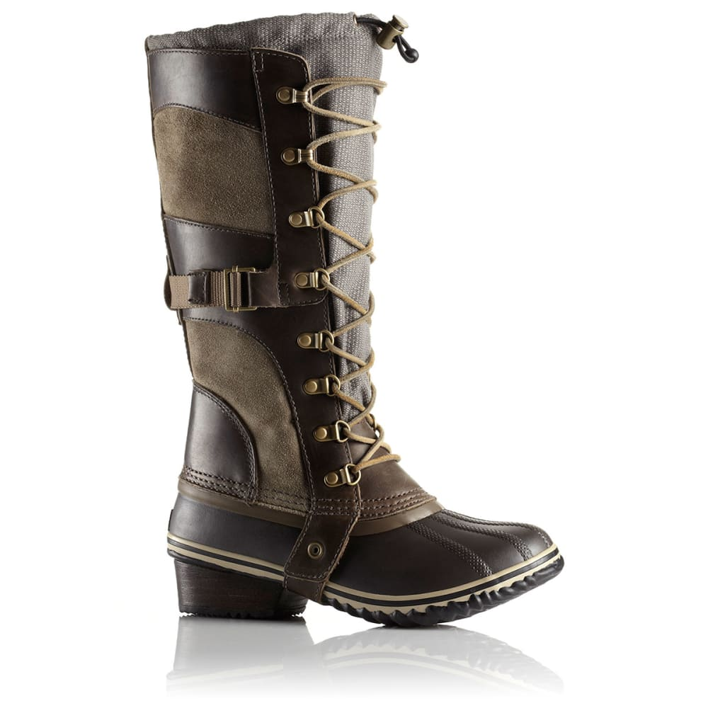 SOREL Women's Conquest Carly Boots, Camo Brown/Pebble - BROWN