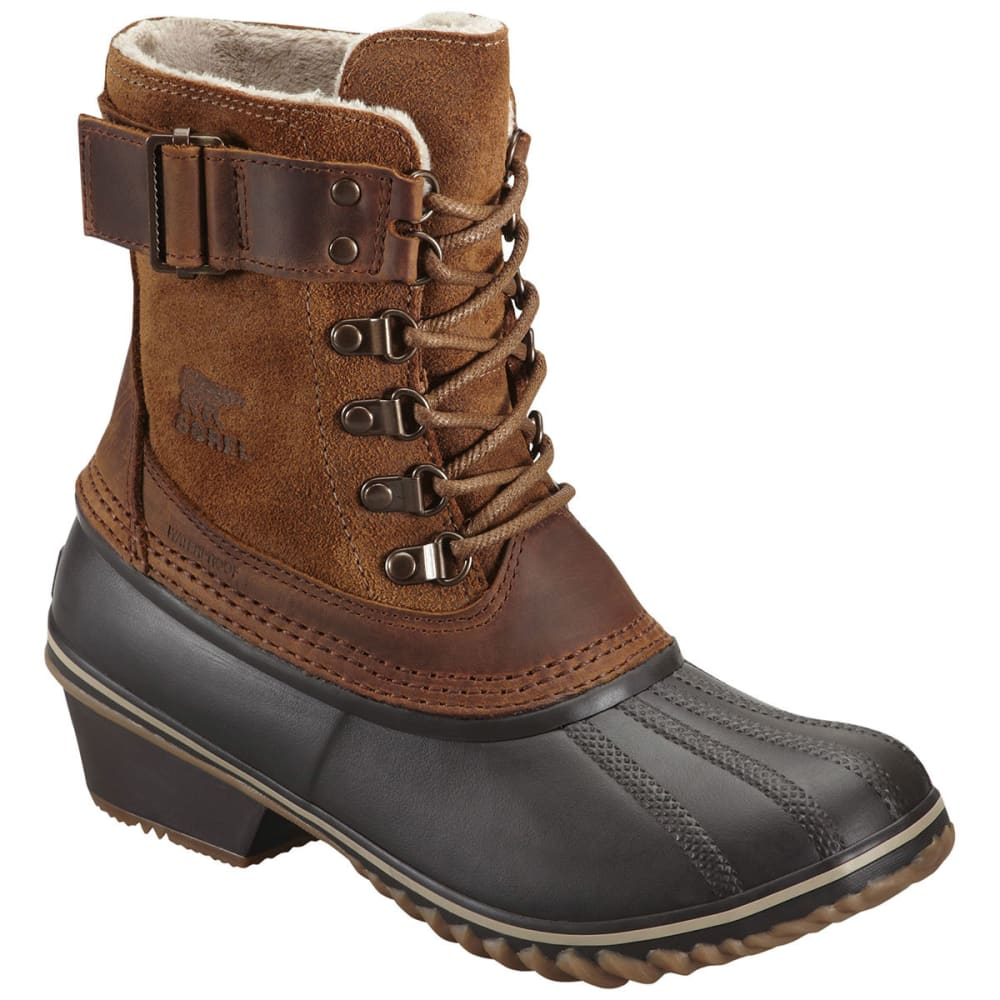 SOREL Women's Winter Fancy Lace II Winter Boots, Elk - BROWN