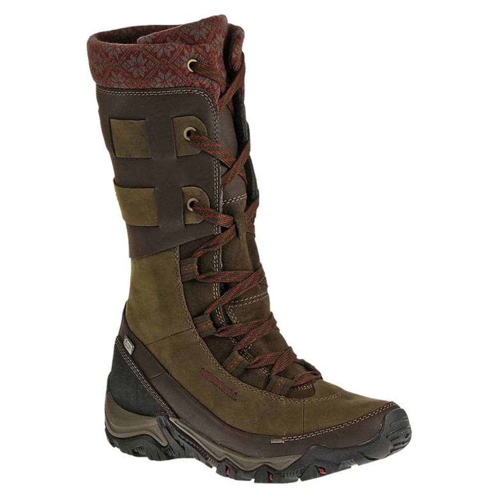 Unique Merrell Prevoz Snow Boots  Insulated SuedeLeather For Women