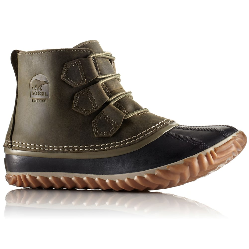 Sorel Women S Out N About Leather Boots Sage