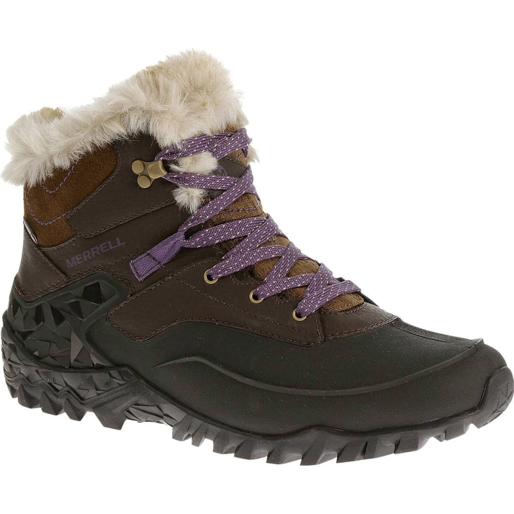 MERRELL Women's Fluorecein Shell 6 Hiking Boots - CHOCOLATE