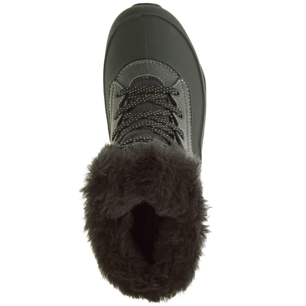 MERRELL Women's Fluorecein Shell 6 Waterproof Winter Boots, Black - BLACK