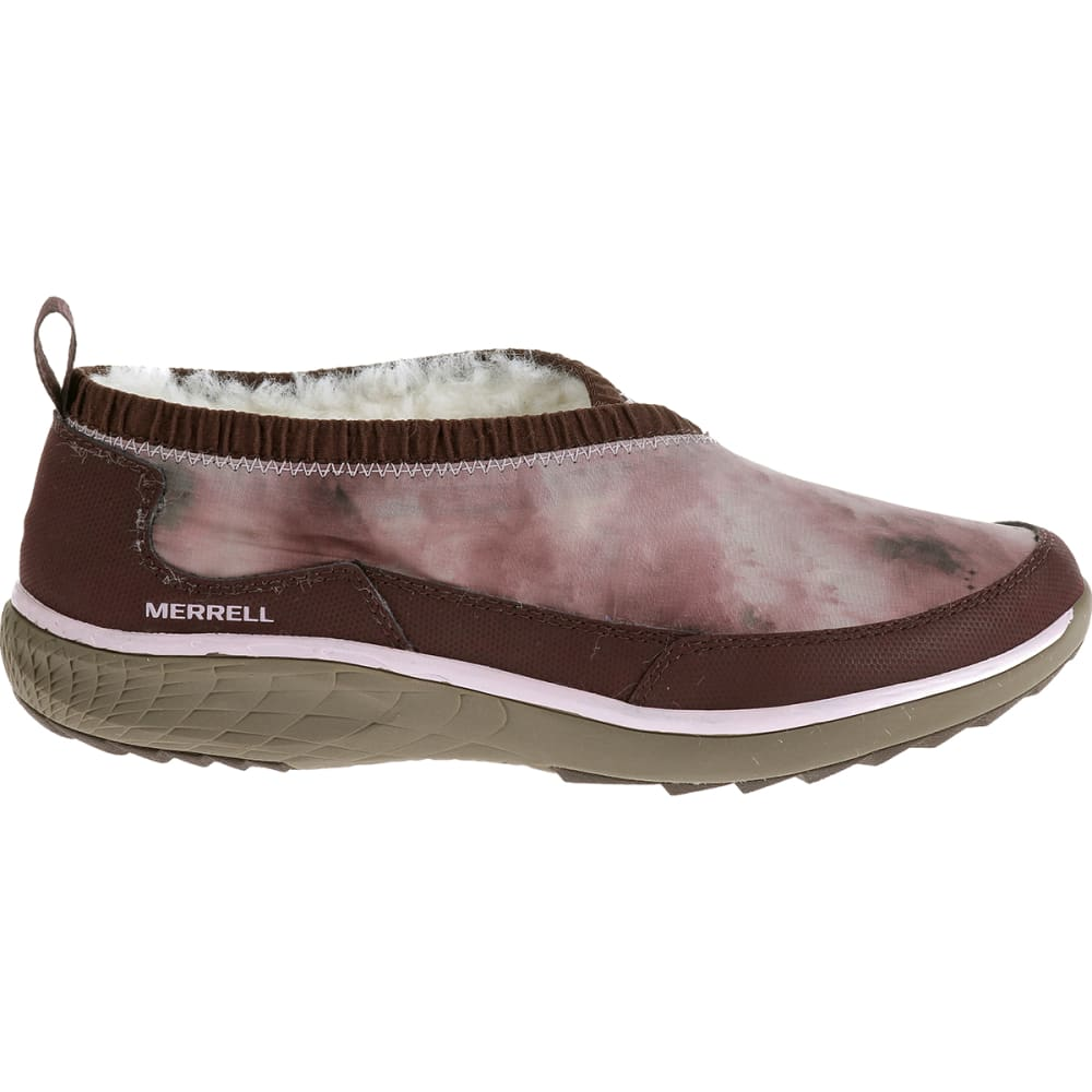merrell s pechora wrap slip on shoes burgundy