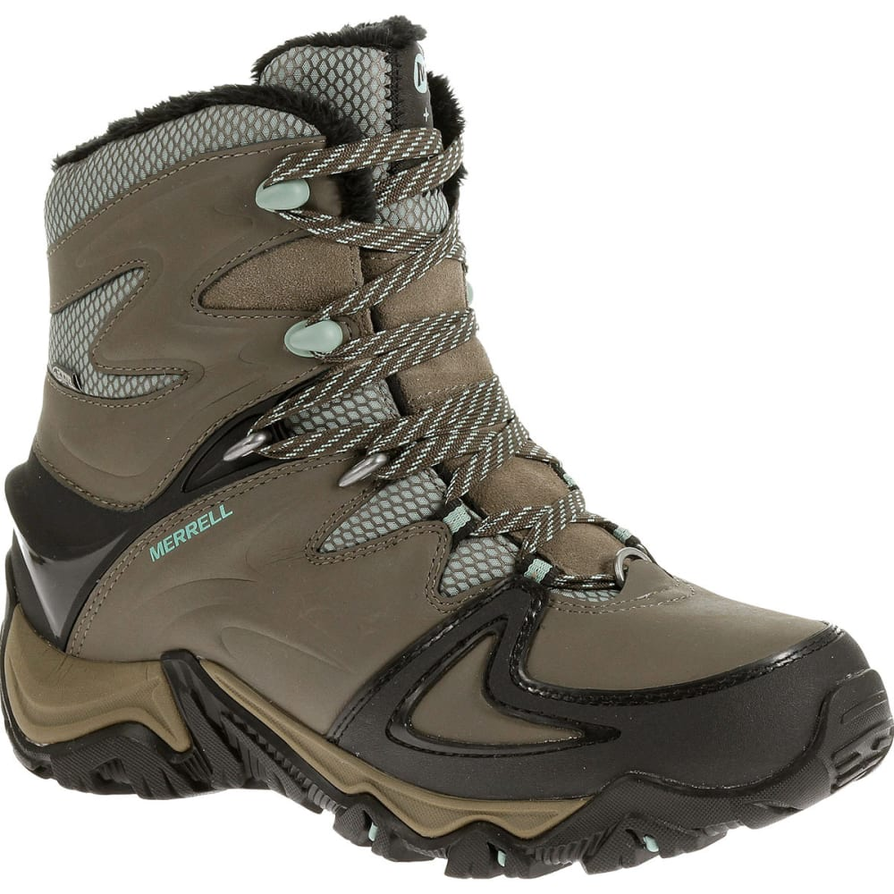 MERRELL Women's Polarand 8 Waterproof Hiking Boots, Boulder - BOULDER