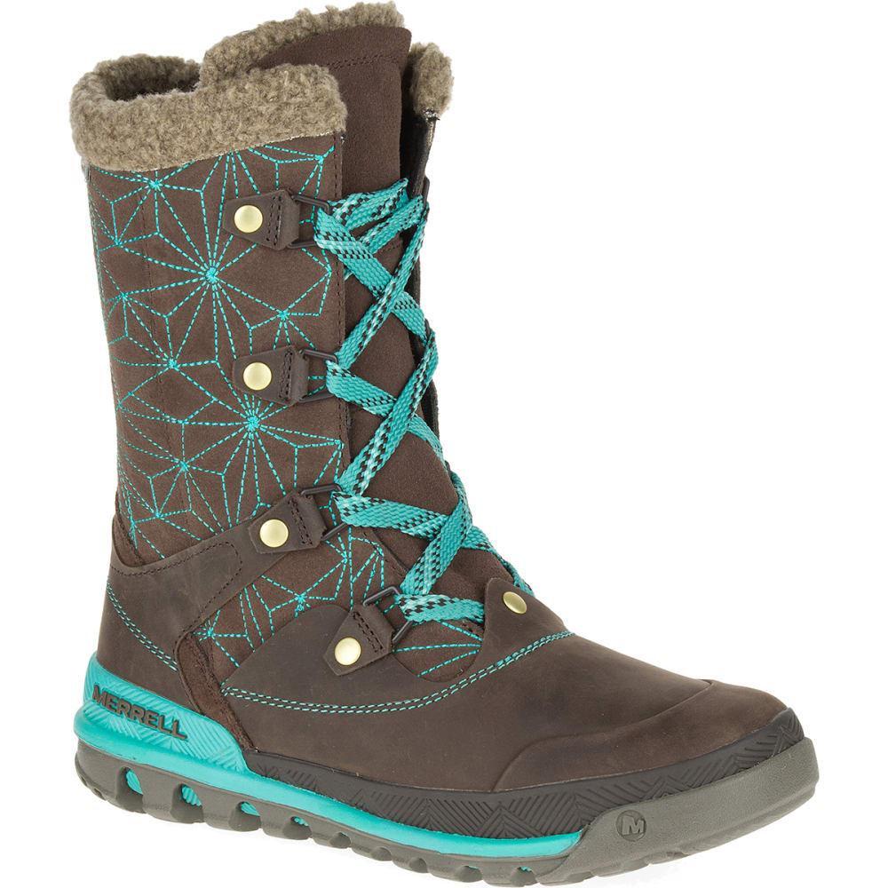 merrell s silversun lace waterproof boots bracken