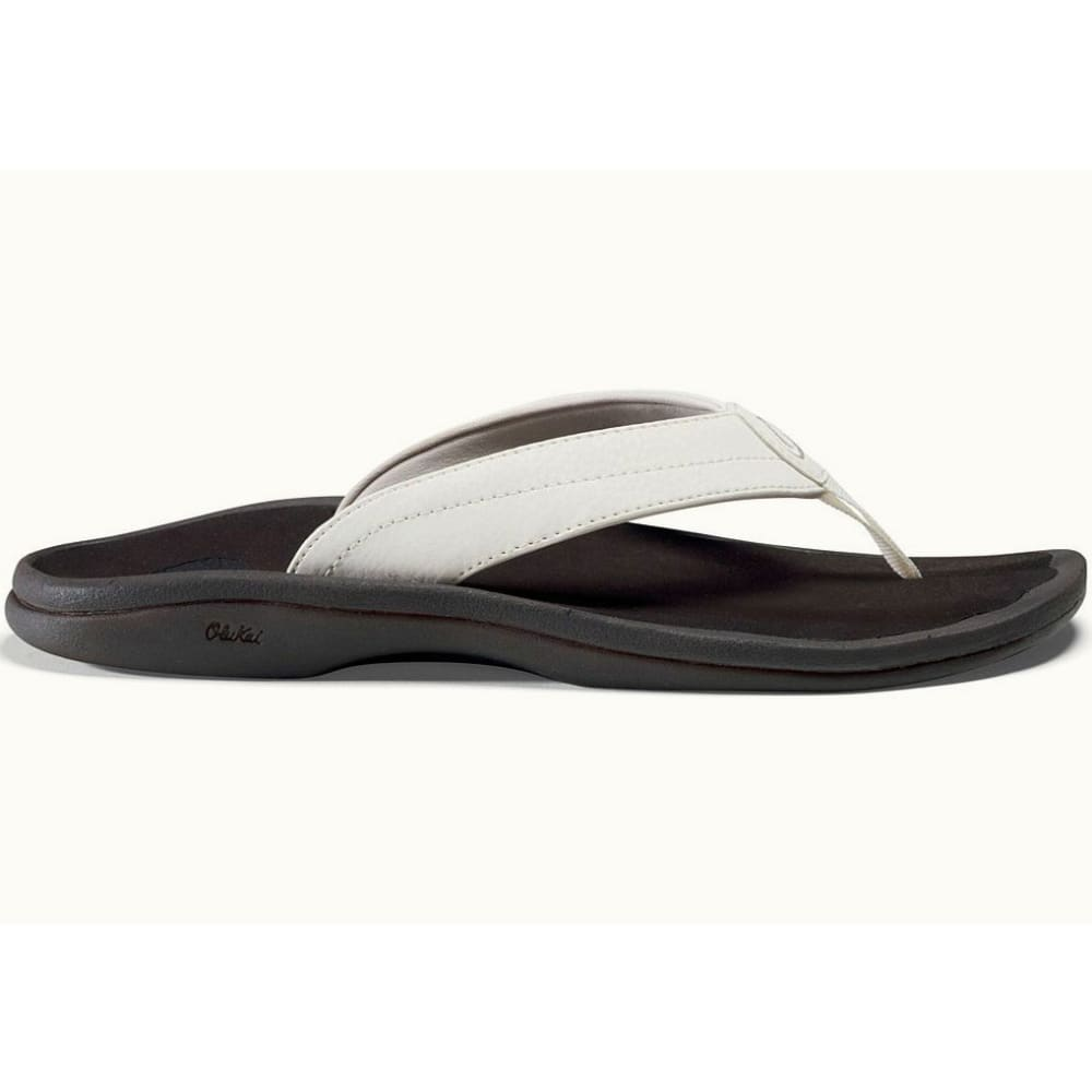 OLUKAI Women's 'Ohana Flip-Flops - WHITE