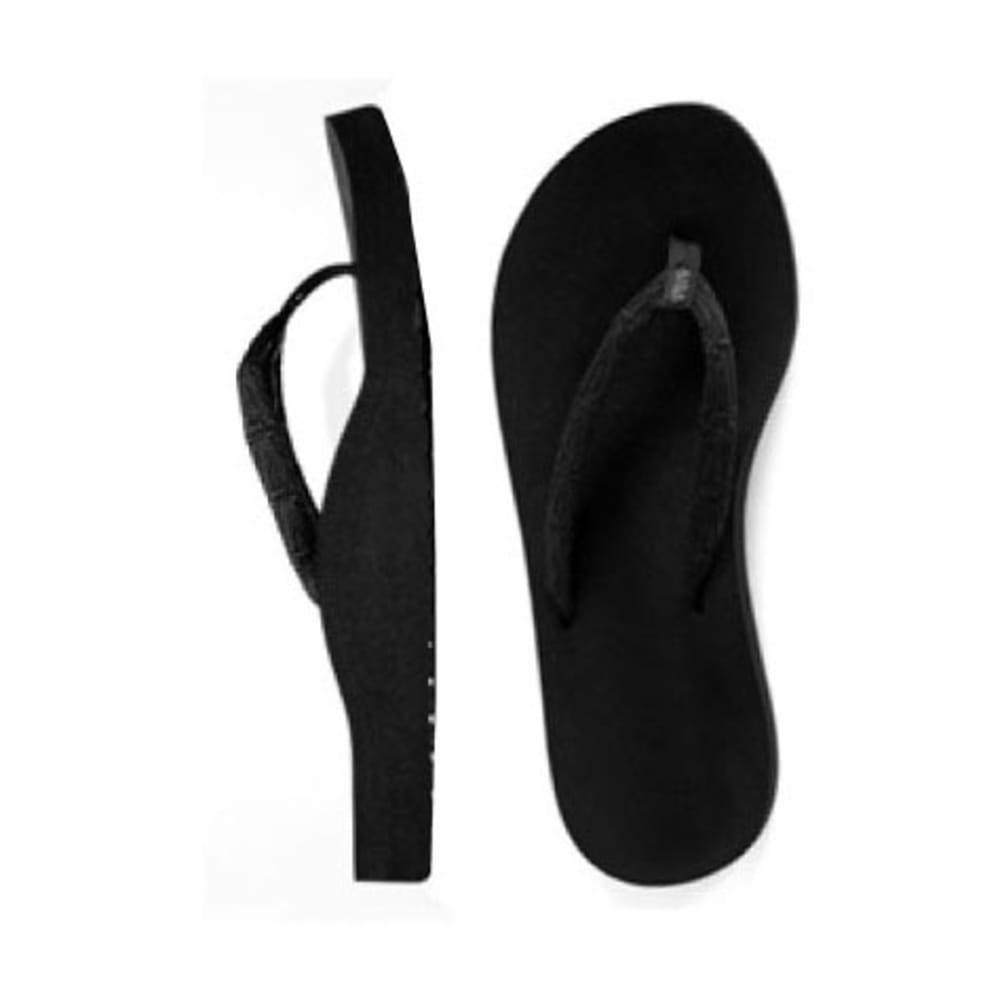VERE Women's Angie Flip-Flops - BLACK/SILVER