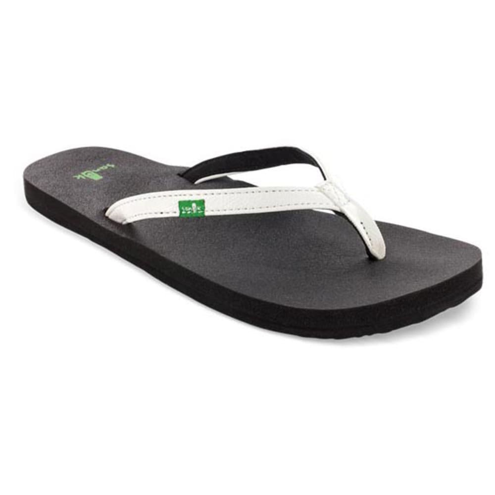 SANUK Women's Yoga Joy Flip-Flops - WHITE