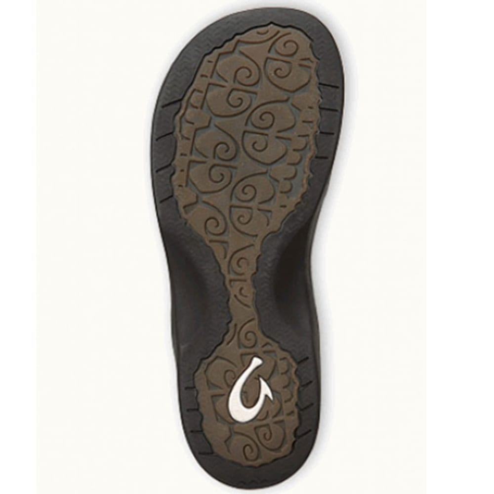 OLUKAI Women's 'Ohana Sandals, Black - BLACK/BLACK