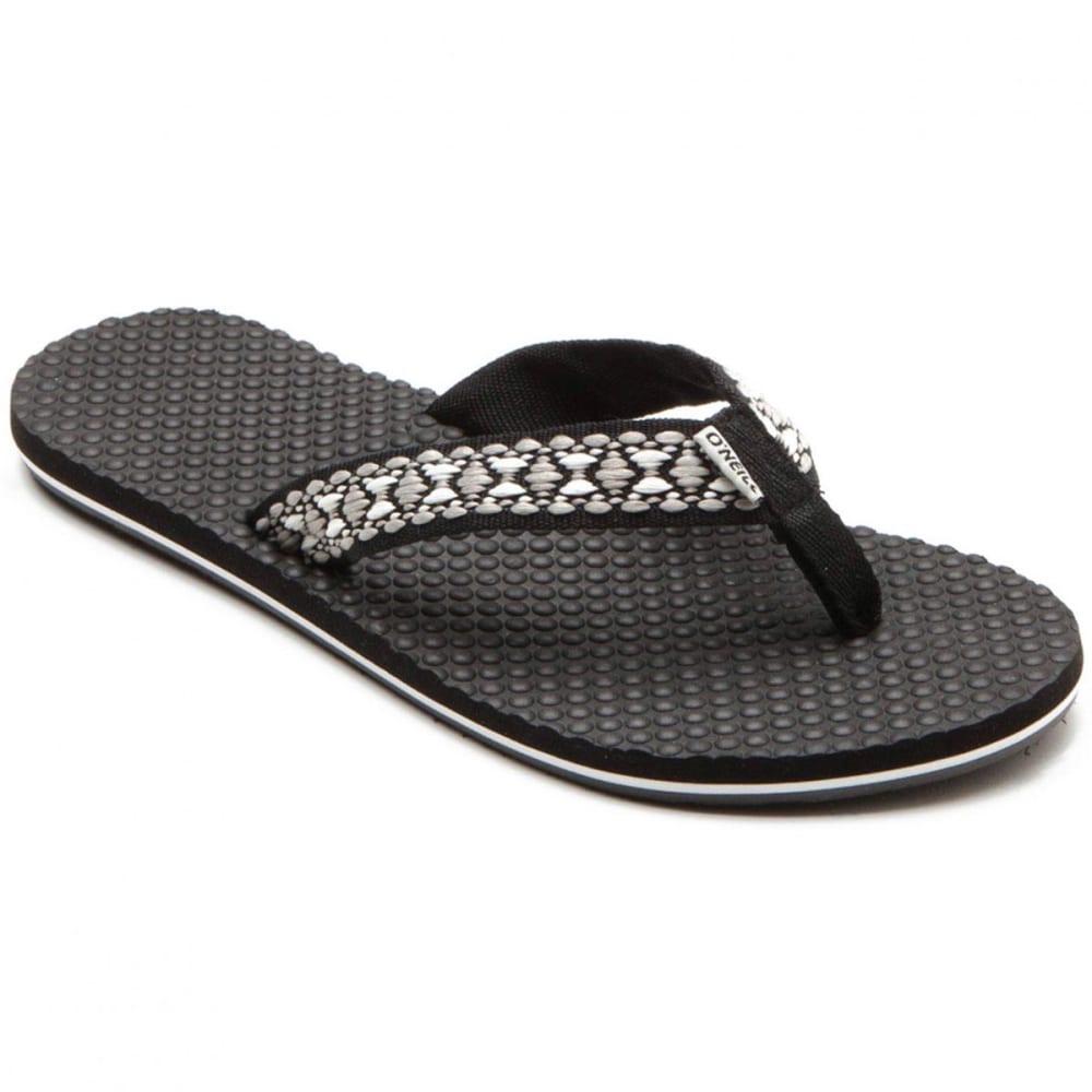 O'NEILL Women's Tides Flip-Flops, Black - BLACK