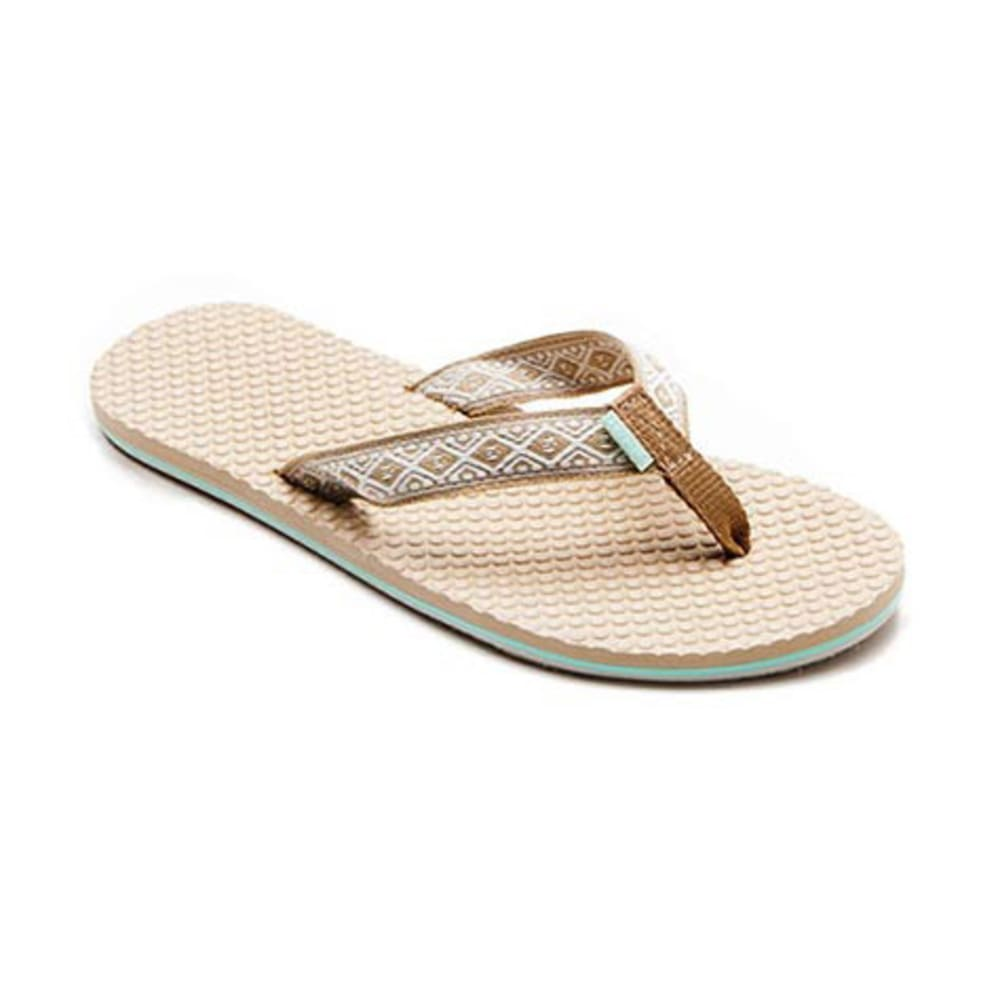 O'NEILL Women's Tides Flip-Flops, Natural - NEUTRAL CAMO