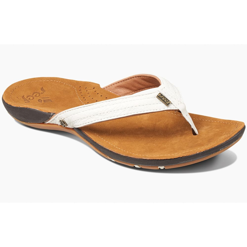 REEF Women's Miss J-Bay Flip-Flops, Tan/White - TAN/WHITE