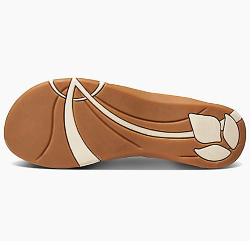 REEF Women's Miss J-Bay Flip-Flops, Tan/White - TAN/WHITE