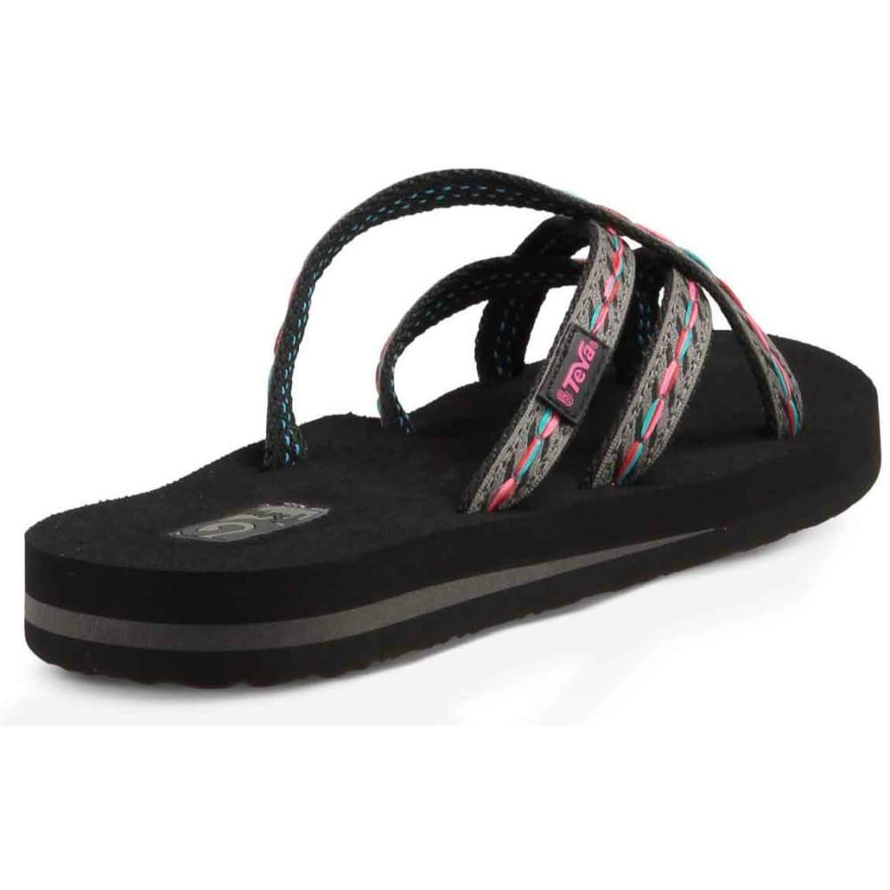 TEVA Women's Olowahu Flip-Flops, Felicitas Black - FELICITAS BLACK